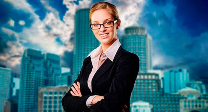 Successful businesswoman with folded arms